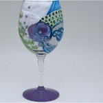 Hand Painted Fish Glass